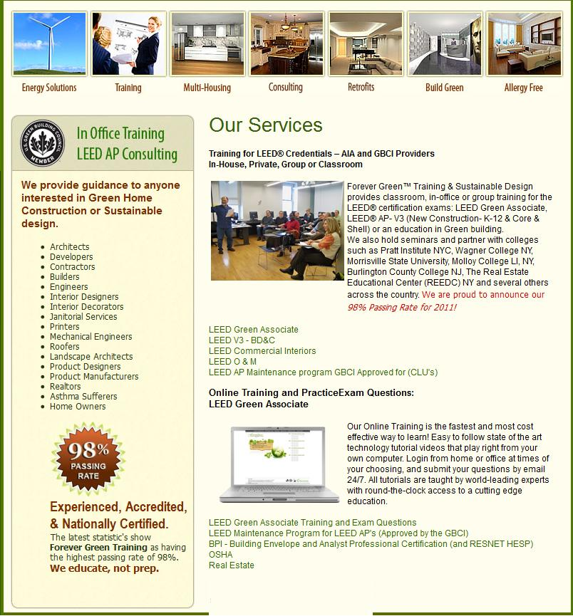 Welcome To Forever Green Training Sustainable Design